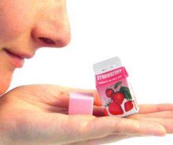 scented erasers in milk cartons