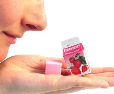 scented erasers in milk cartons