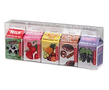 scented erasers in milk cartons pack