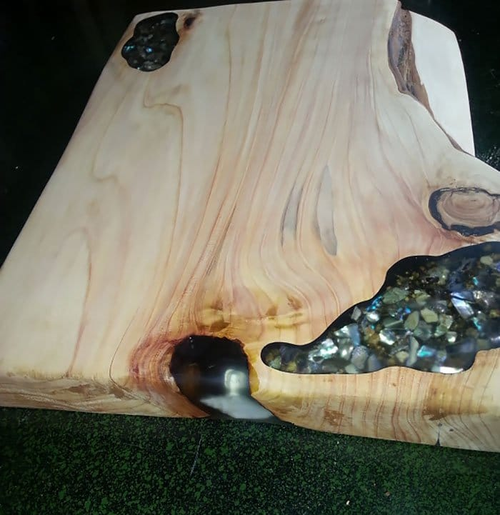 shells inlaid table