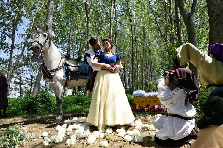 snow white prince horse