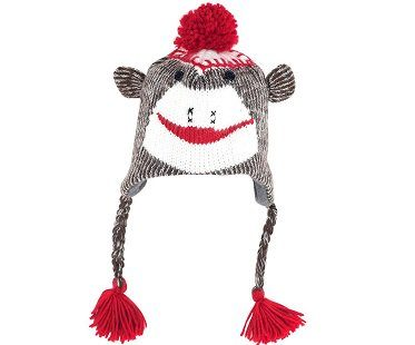 sock monkey hat knit