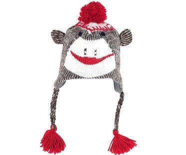 sock monkey hat knit