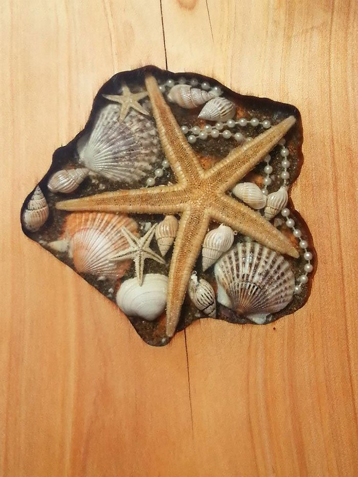 starfish shell table