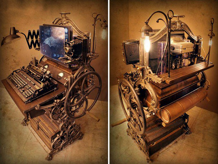 This Steampunk Computer Workstation Is Beyond Awesome