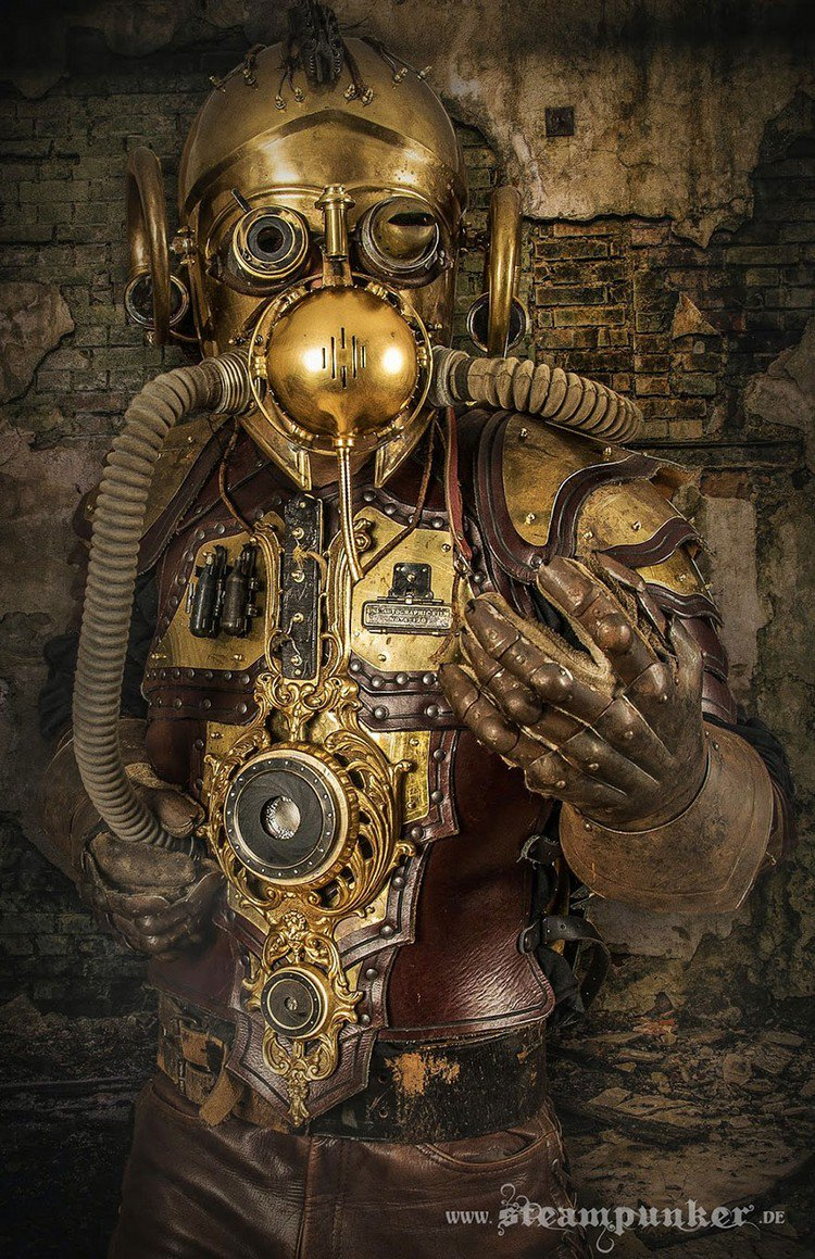 steampunk costume bronze