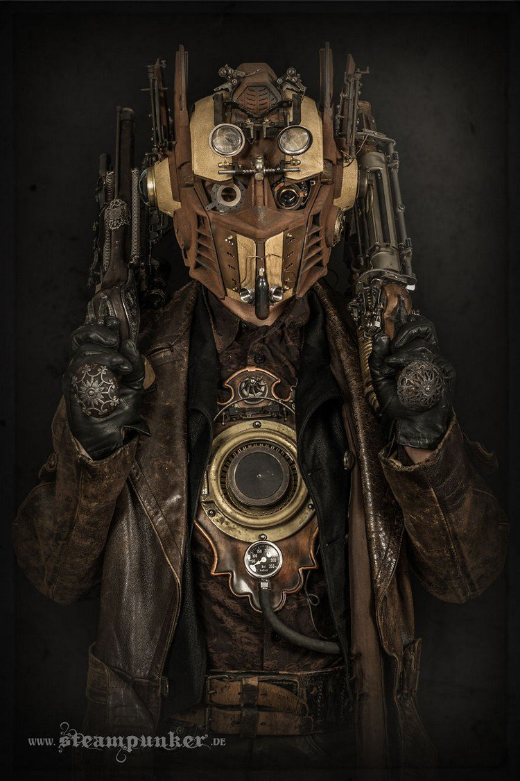 Steampunk costume coat mask
