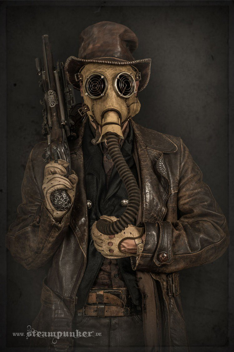 steampunk costume gas mask