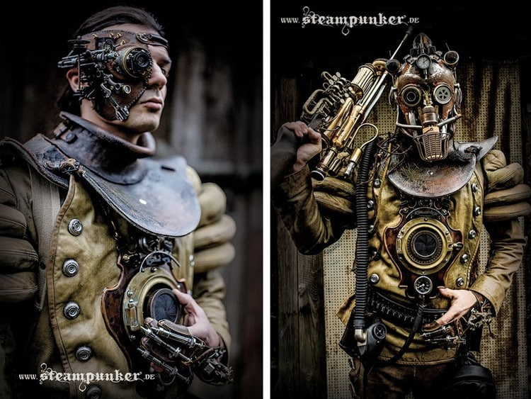 steampunk costumes pair