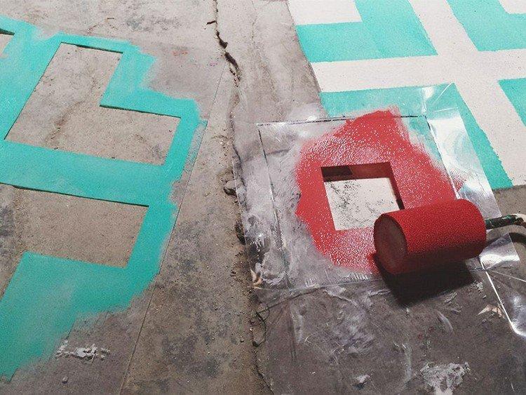 stencils rollers