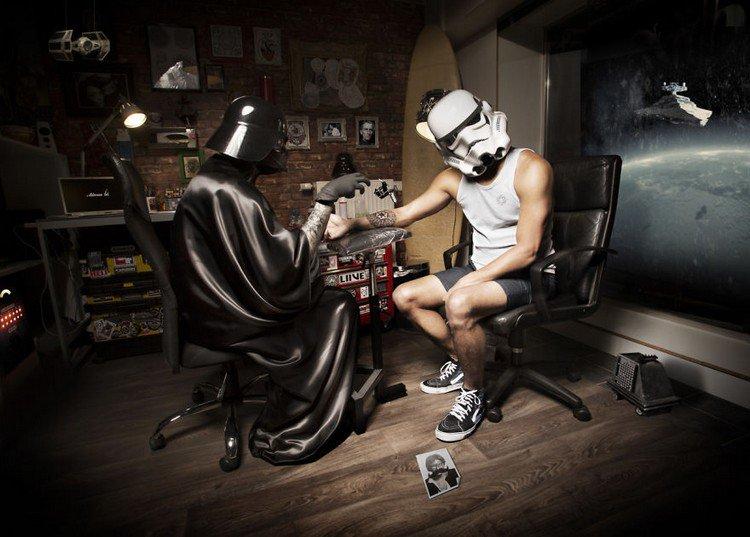 tattooing star wars