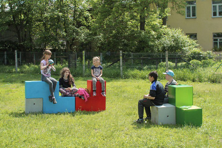 tetris furniture kids sitting