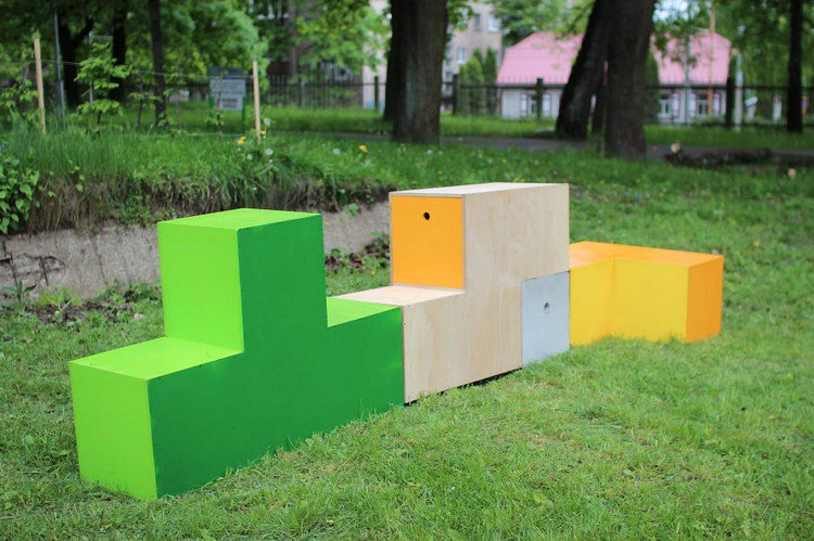 Beautiful Tetris Furniture Wall