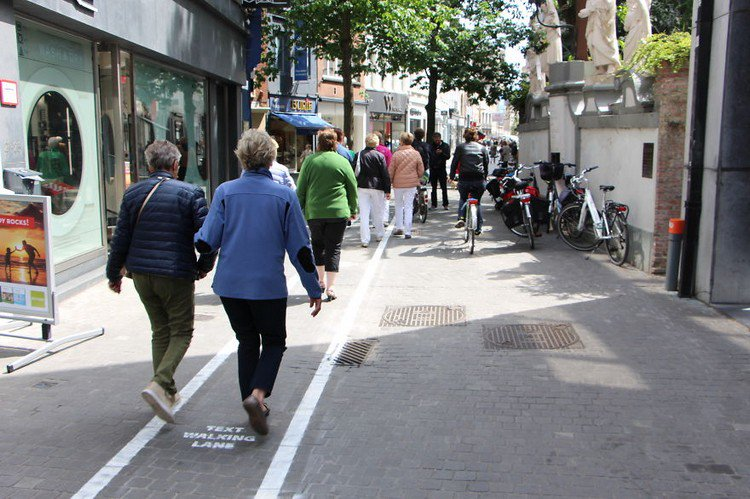 text walking lane group