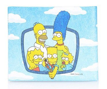 the simpsons intro wallet inside back