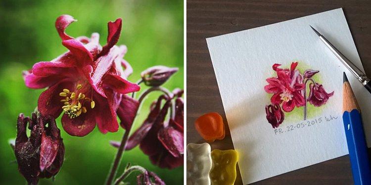 tiny-spring-illustrations-kasia-haldas-flower