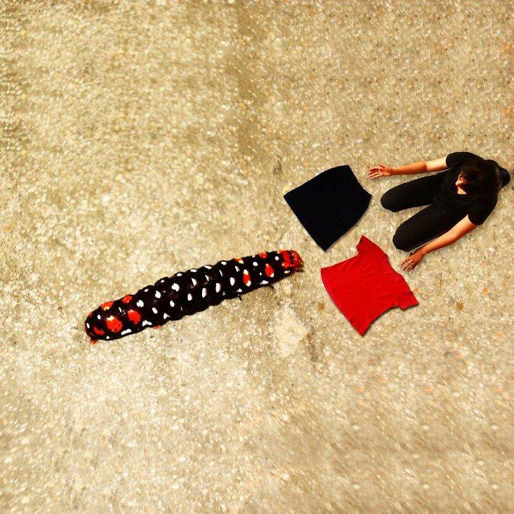 tiny woman clothes caterpillar
