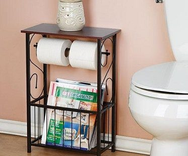 toilet roll holder and organizer