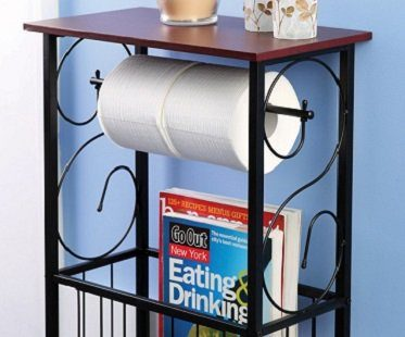 toilet roll holder and organizer magazines