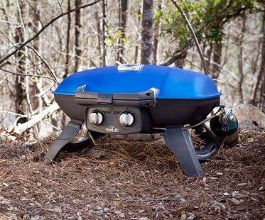 travel grill camping blue