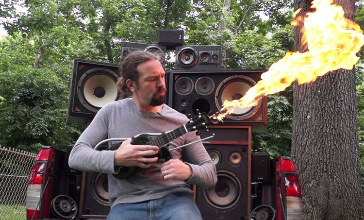 ukulele flame thrower