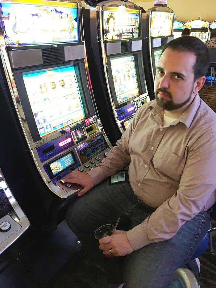 unhappy man casino