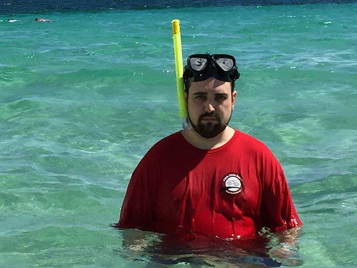 unhappy man ocean