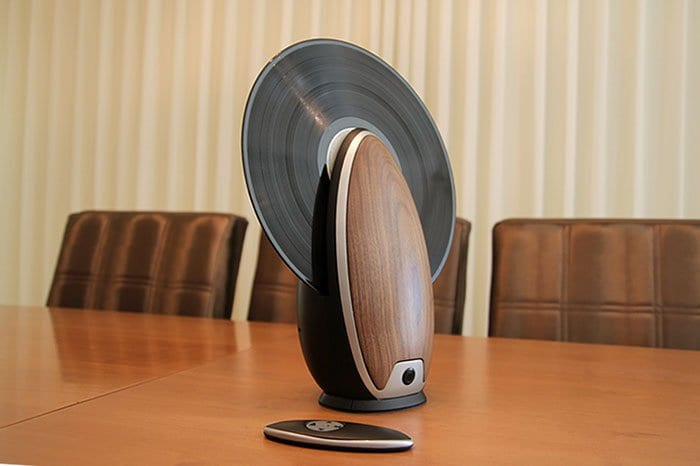 vertical record player remote
