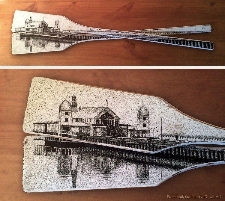 wooden paddles art