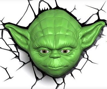 yoda night light green
