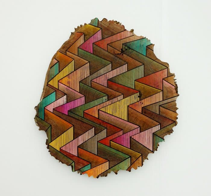 zig zag pattern wood