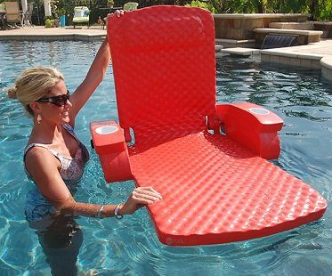 Adjustable Pool Recliner red