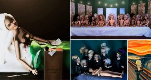 Barbies Take Over Classic Paintings