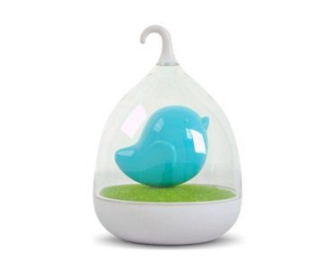 Birdcage LED Night Light blue