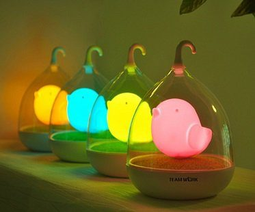 Birdcage LED Night Light colours