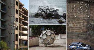 CCTV And Satellite Dishes Art Installation
