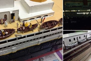 Cardboard TItanic Model