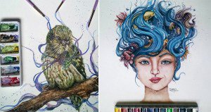 Dany Lizeth Watercolors And Pencil Drawings