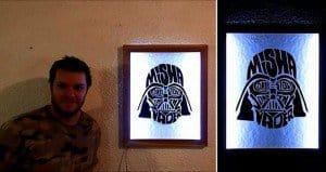 Darth Vader LED Frame
