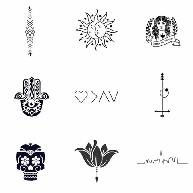 never regret a tattoo again with 39 inkbox 39 the natural tattoos that last for 2 weeks. Black Bedroom Furniture Sets. Home Design Ideas