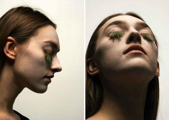 Fake-eyelashes-made-of-plants