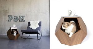 Geometric Pet Cave Side Table