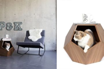 Geometric Pet Cave Side Table