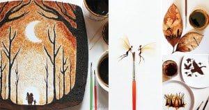 Ghidaq Al-Nizar Coffee Paintings On Leaves
