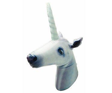 Inflatable Unicorn Head white