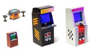 Lego Tributes To 1980s Arcade Machines