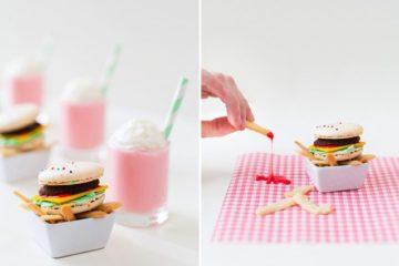 Macaron Burgers And Sugar Cookie Fries