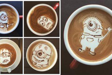Minion Latte Art