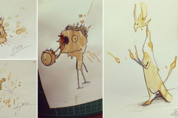 Monsters Made From Coffee Stains
