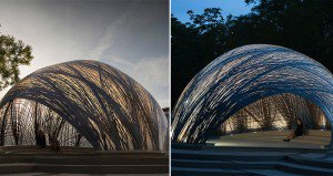 Pavilion Is Based On Water Spider Nest